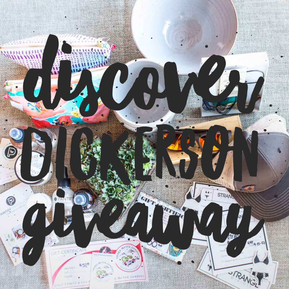 Discover Dickerson Giveaway