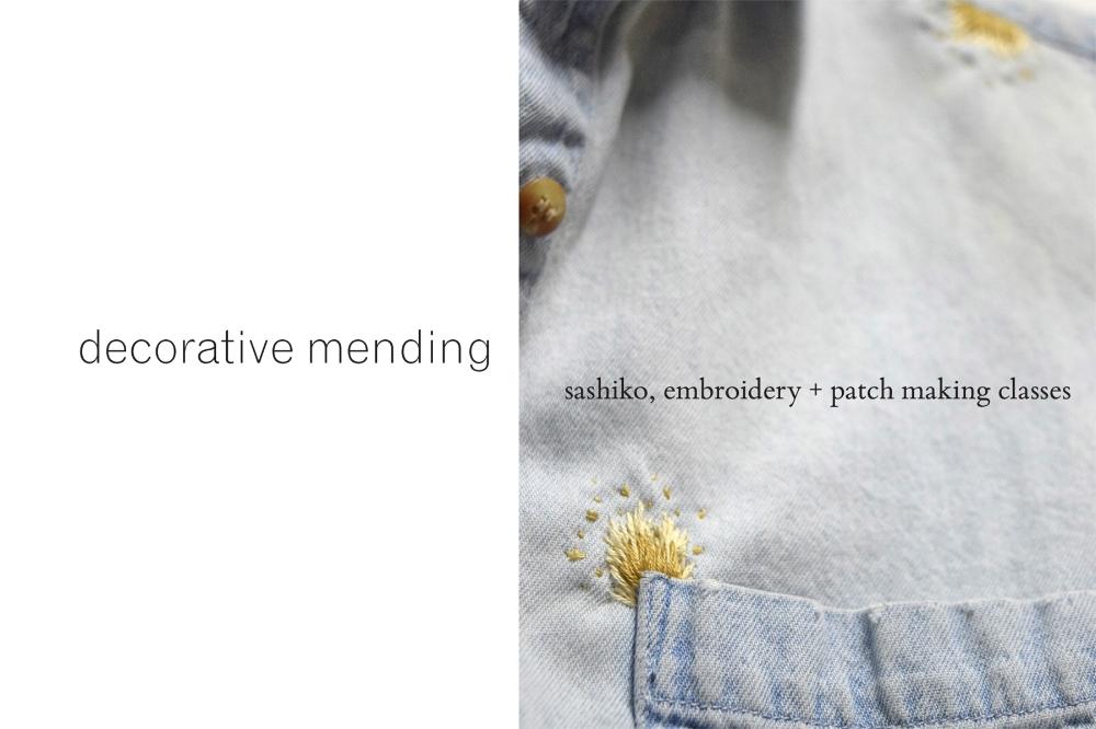Decorative Mending Class Series with Sarah Lillegard — The Nest Reno