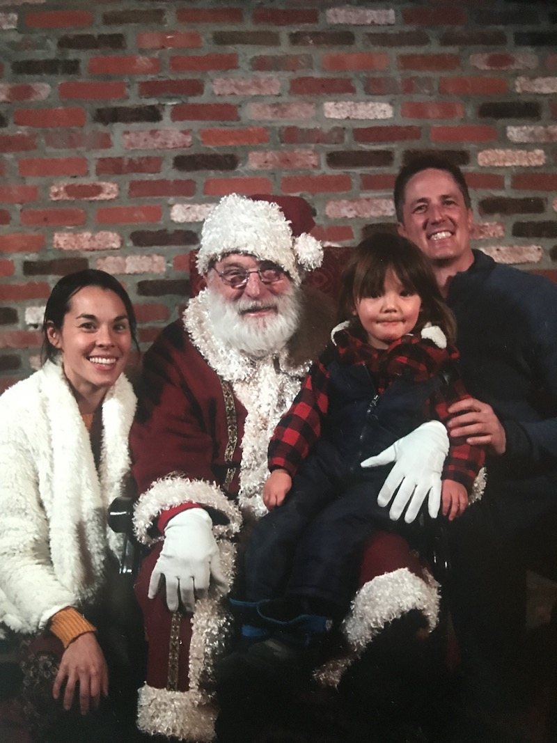 The Miller-McCarts with Santa