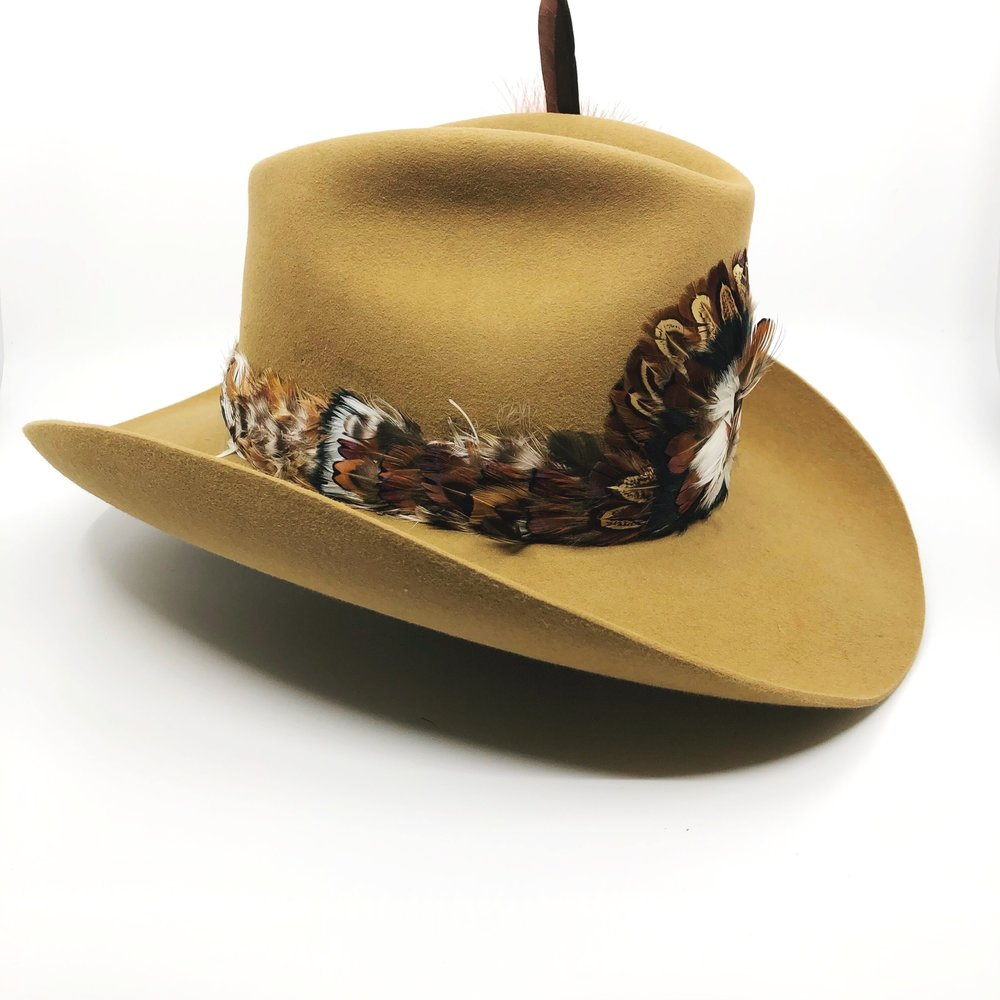 a406c795c133e Stetson Cowboy Hat with Feather Band — The Nest Reno