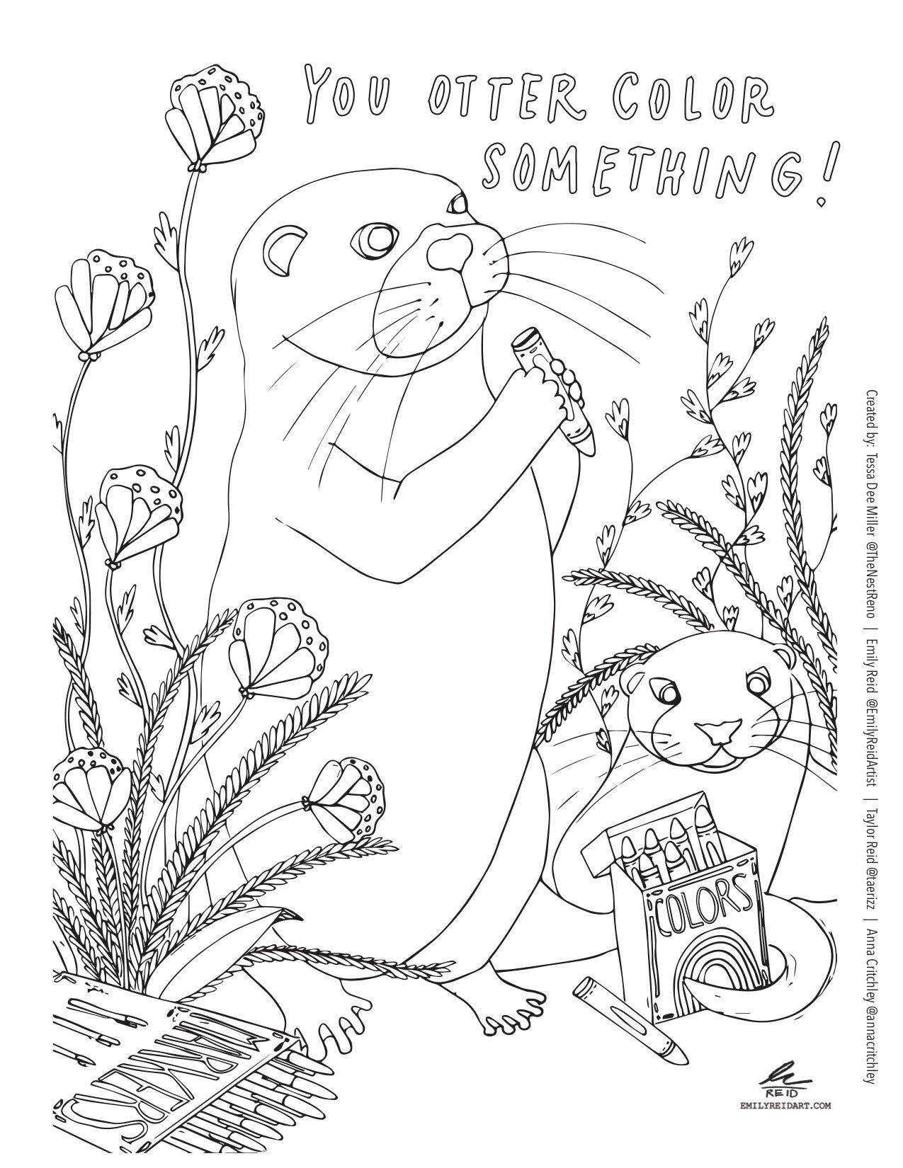 PRINTABLE Quarantine Coloring Book in PDF Format — The Nest Reno
