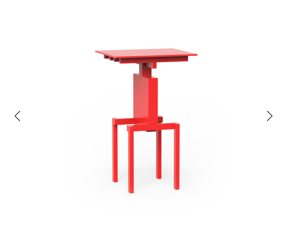 Pascal Howe_Covered Identity_Side-Table_red 3.jpg