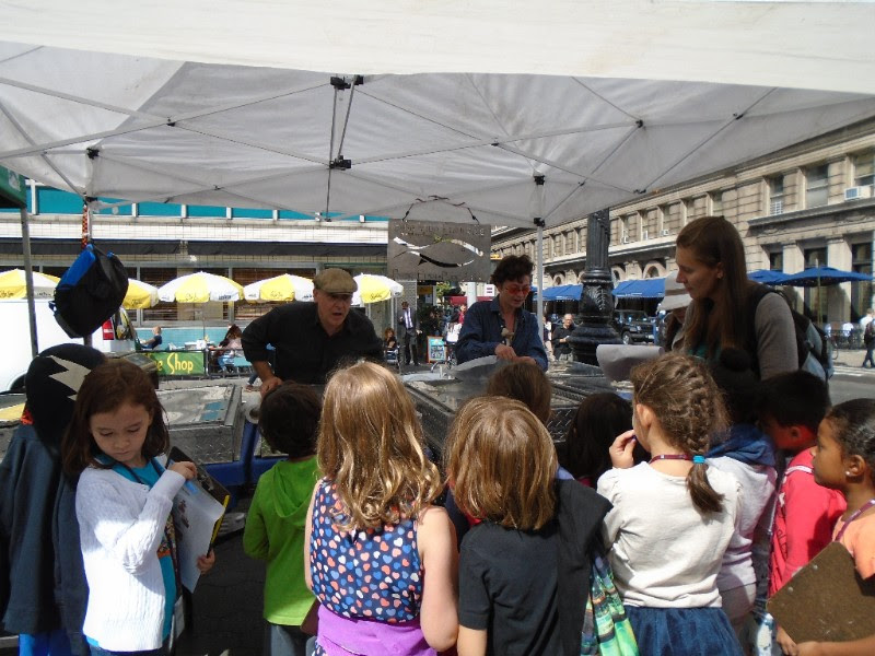 Corlears School's 6/7s visit the Union Square Farmer's Market