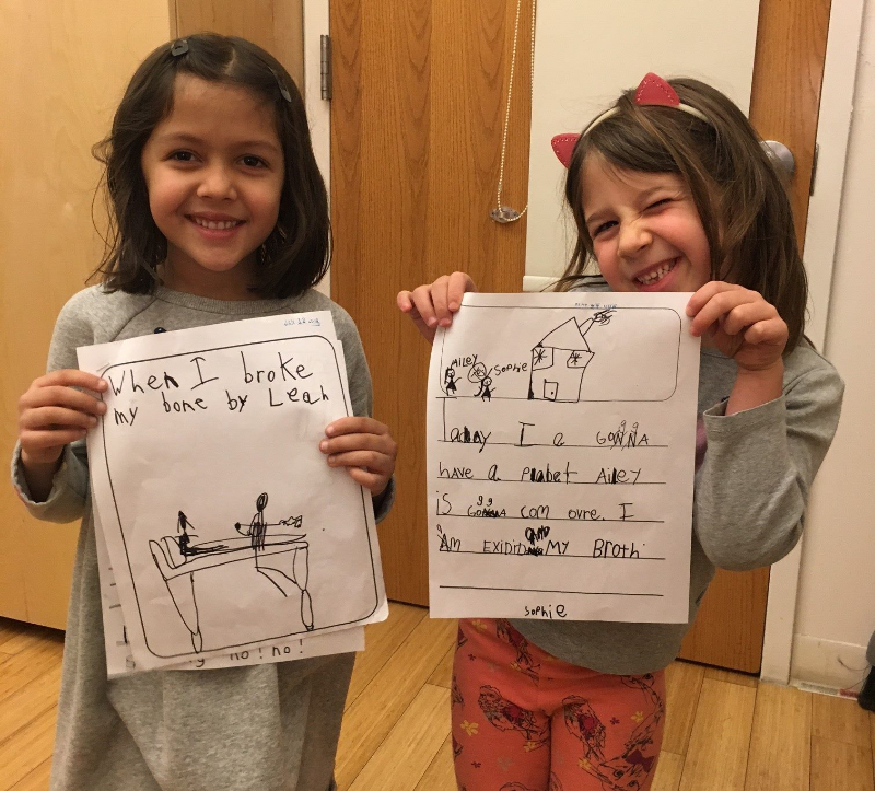 two of our ks show off their autobiographical stories!