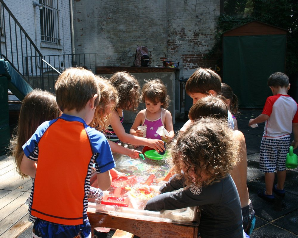 Water play proved to be popular during the warm summer days for our discover science campers!
