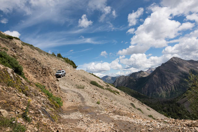 Beautiful steep descent