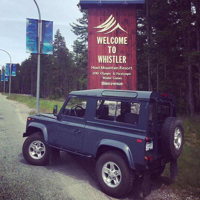 Arriving in Whistler, British Columbia.