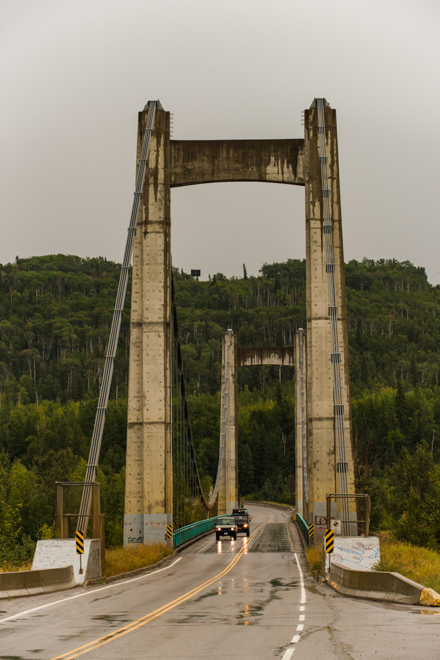 Hudson Hope, bridge over the Peace River, BC