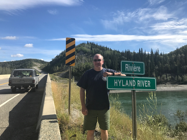 Named after his family, Hyland River, BC