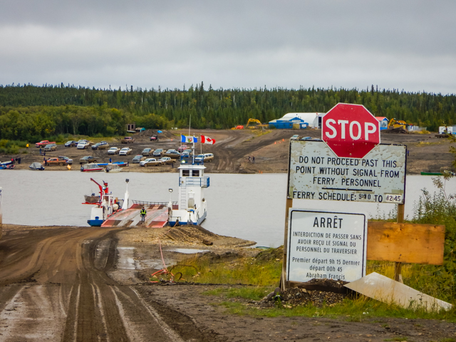 Fort Macpherson Ferry over the Peel River, Dempster Highway, NWT