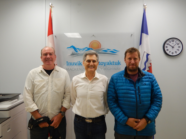 Meeting with the project manager for the Mackenzie Valley Highway, Inuvik, NWT