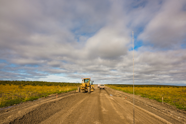 Road crews, Mackenzie Valley Highway, NWT