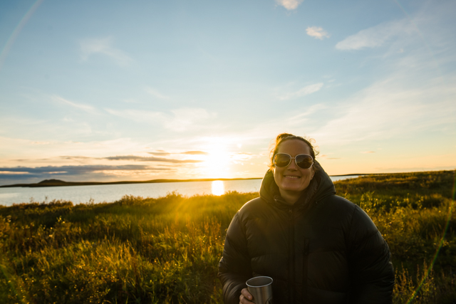 21 hours of sunlight, Tuktoyaktuk, NWT