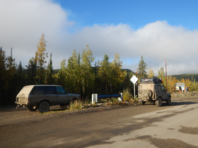 The end of the Dempster Highway, unscathed, YT