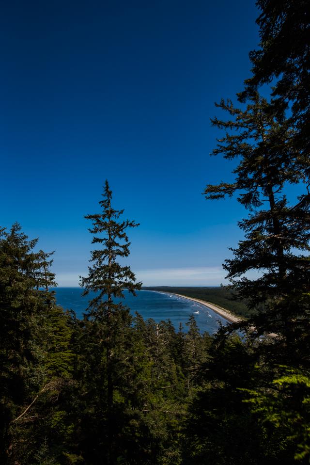 Tow Hill looking up North Beach, Haida Gwaii, BC
