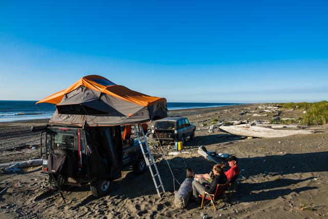 Overnight camp at Rose Spit,North Beach, Haida Gwaii, BC