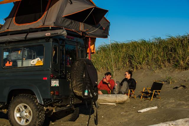 Overnight camp at Rose Spit,Haida Gwaii, BC