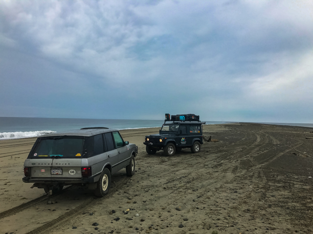 Overnight camp at Rose Spit, Haida Gwaii, BC