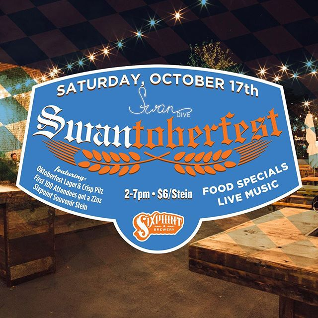 Closed today, possibly tomorrow so we'll have to see you for Oktoberfest in a couple weeks. Featuring @sixpointbrewery and @pigbeachnyc BBQ specials. #summeronthecanal #oktoberfest #sixpoint