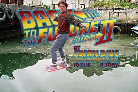 Hover down the Gowanus and meet us for a free screening of Back to the Future 2 on 10.21.15 - the day Marty McFly time traveled to!!! #bttf2 #bttf2015 #gowanus #gowanuscanal