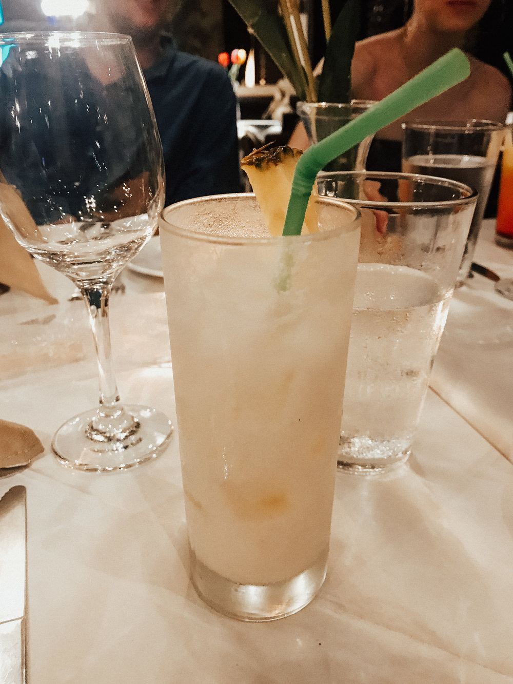 coconut fizz at the rehearsal dinner