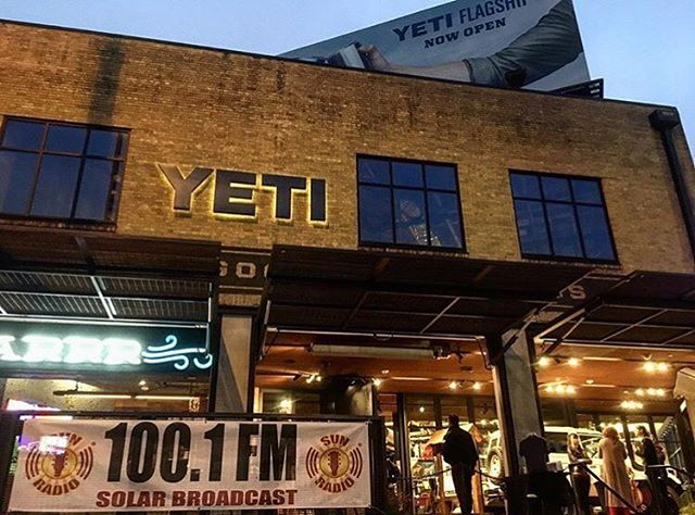 Starting off our 2nd SXSW day at the @yeti flagship location for #SunRadioSessions! Follow our Instagram story throughout the day to see what we're up to!