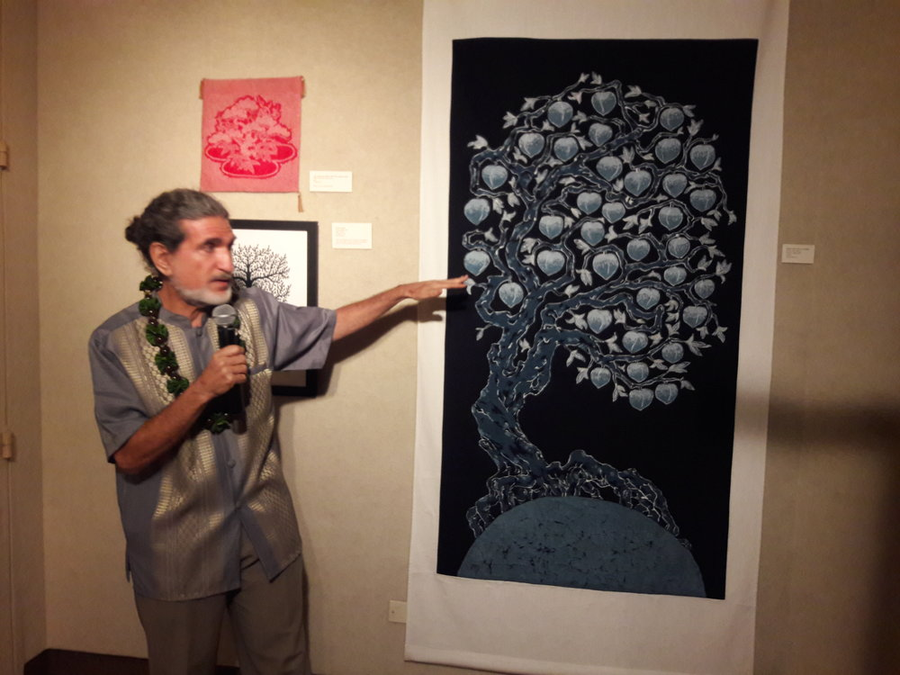 2. Curator Michael Schuster speaking of the Chinese Daoist tree of life.jpg