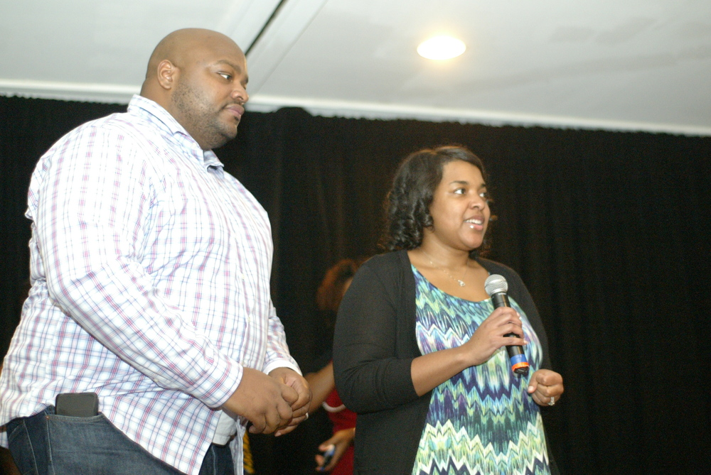 Ms. Amber Vinson and her husband at the event