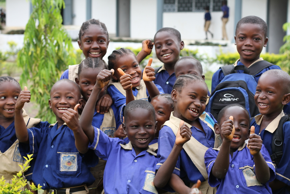 Students of Alexandria A. Andrews Academy School. Gbarnga, Bong County, Central Liberia.