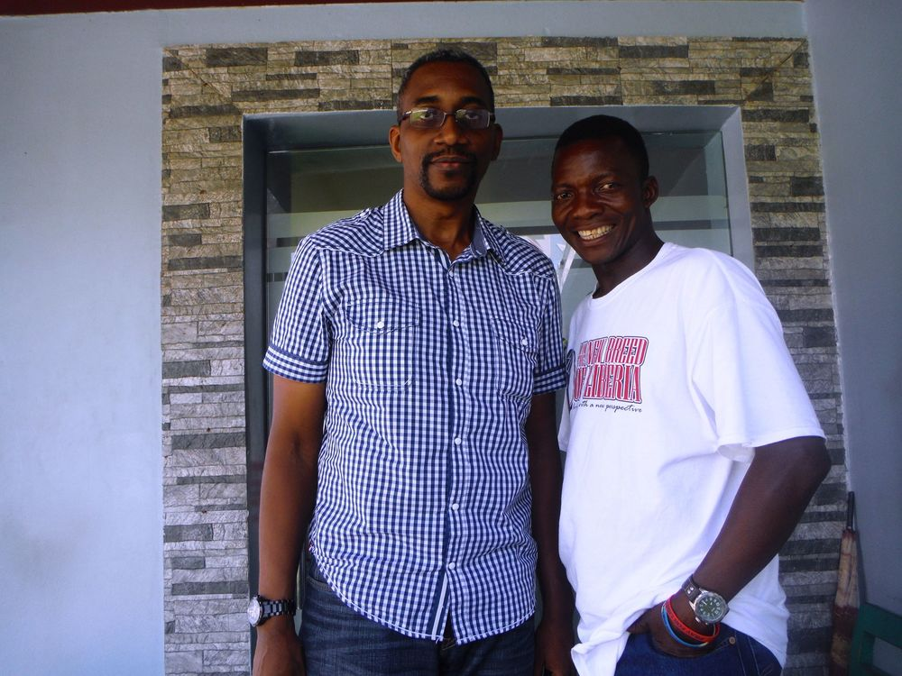 Mr. Desmond Ovbiagele and Eric Wowoh hanging out in Lagos, Nigeria.