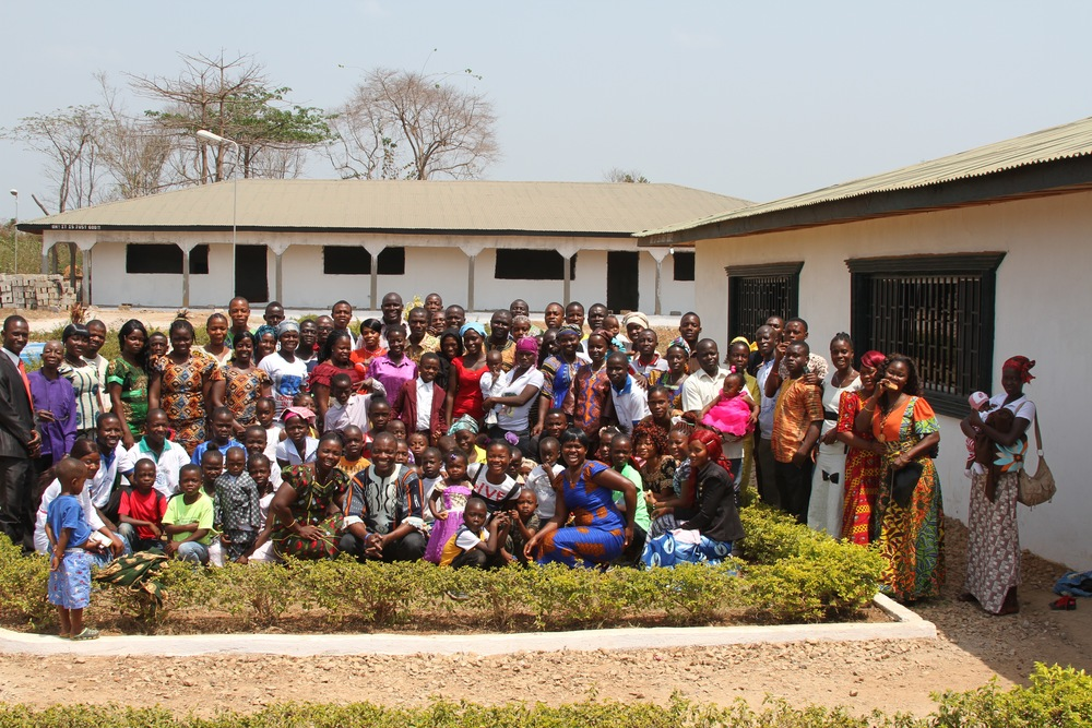 A group picture with some members of the Christ New Breed Church in Fissibu Town, Lofa County, Liberia.