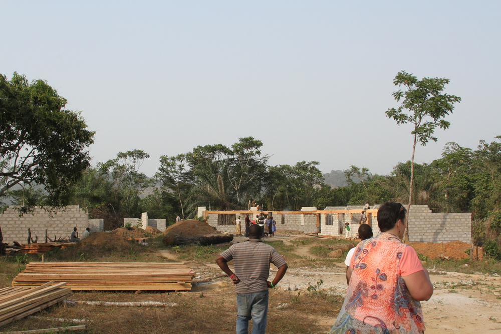 The Galai Community School getting to completion, located in Suakoko District, Bong County, Central Liberia