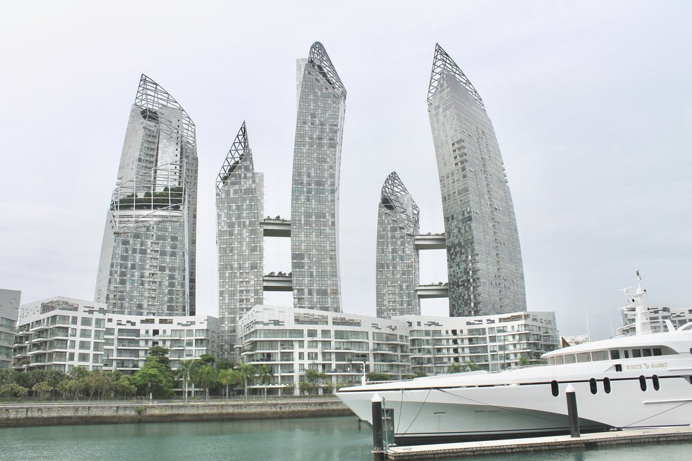 The mind bending Reflections at Keppel Bay, by wonder architect Daniel Libeskind