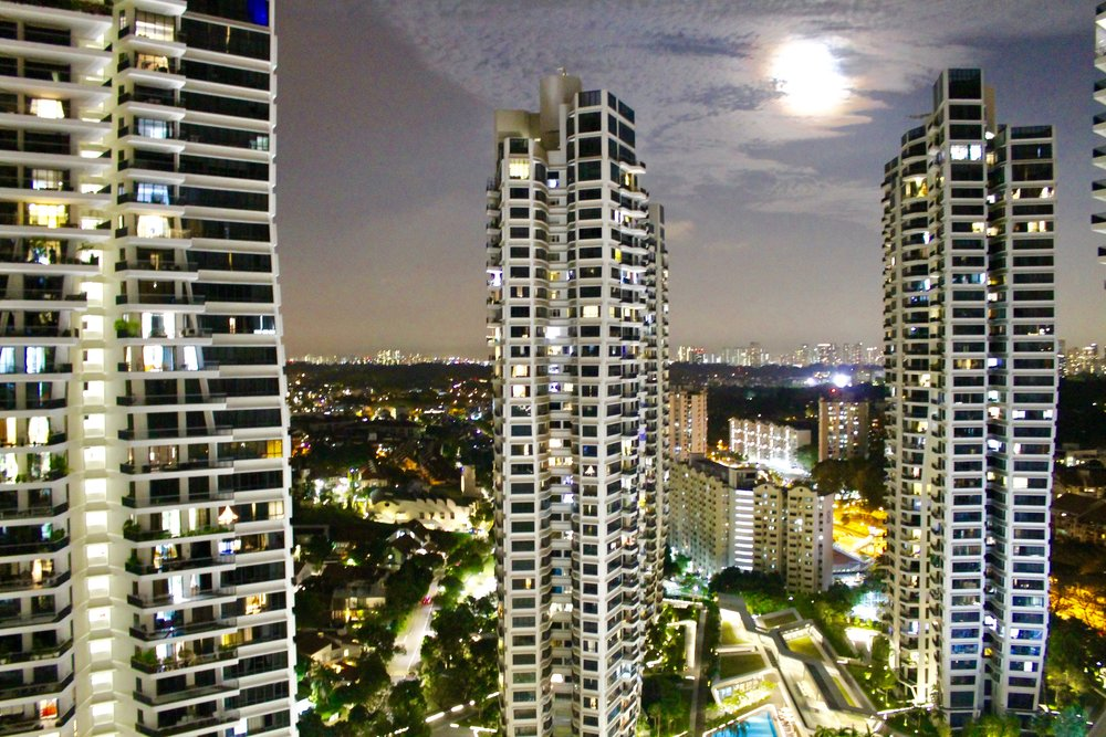 The stunning Zaha Hadid designed D'Leedon Heights on Farrer Road