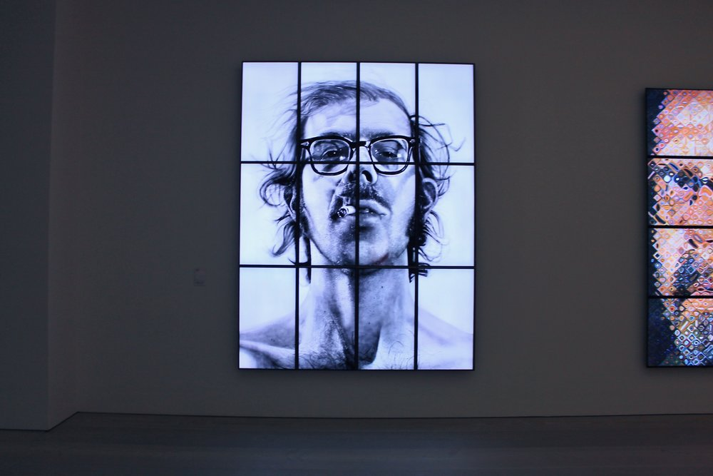 Chuck Close, Big Self-Portrait, 1967-1968, Acrylic on canvas, 107 1⁄2 x 83 1⁄2 inches