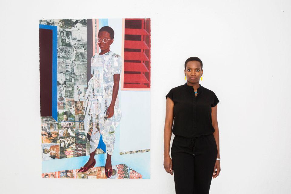 Njideka Akunyili Crosby, 2016 (c) Brigitte Sire. Courtesy the artist and Victoria Miro, London & Venice.
