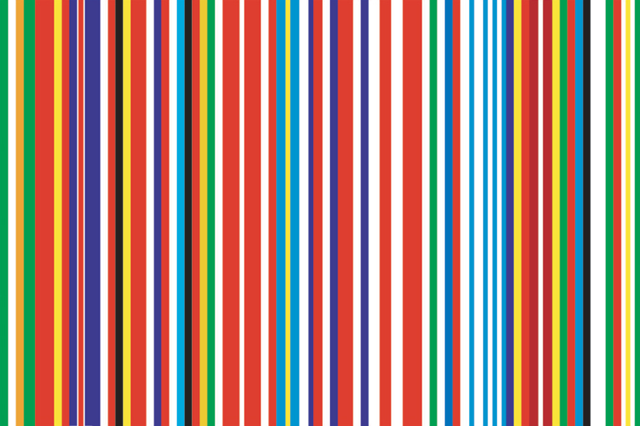 Rem Koolhaas and OMA, EU Iconography Barcode. Courtesy: Rem Koolhaas and OMA