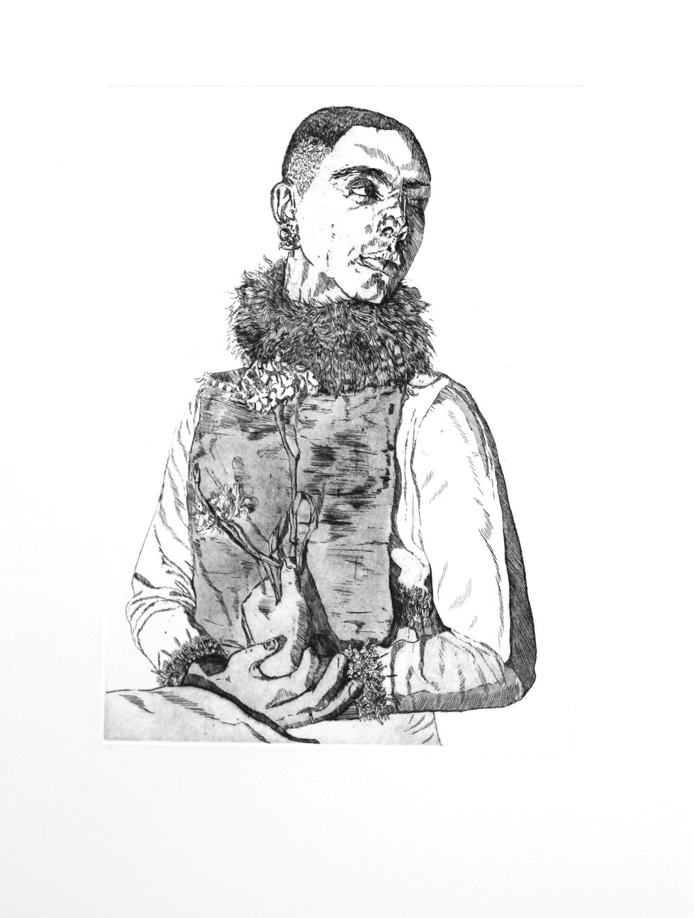 'Orlando,' Etching, aquatint and spitbite on Somerset, 36 x 48 cm