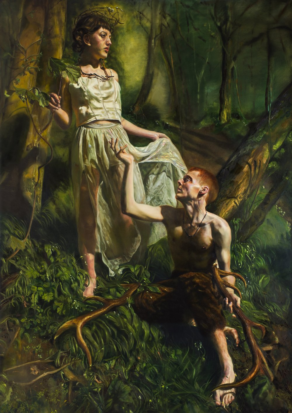 Artemis & Actaeon, Oil on Linen, 190 x 130 cm, 2017