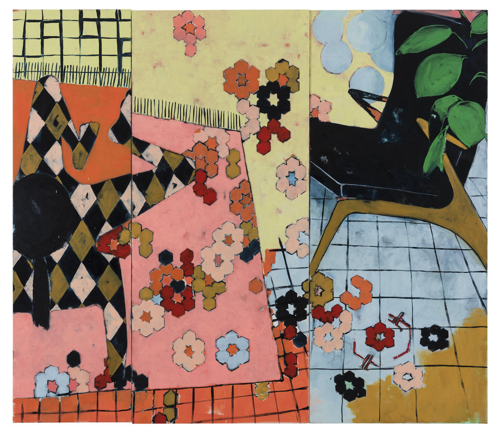 All At Once and Everything Never  2017 triptych oil on linen 160cm by 140cm.jpg