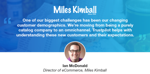 Miles Kimball uses reviews to improve their customers' buying experience