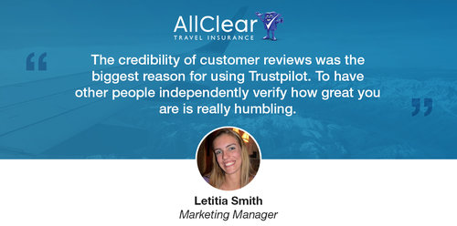 How AllClear Travel Insurance Use Reviews to Give Customers Confidence to Travel