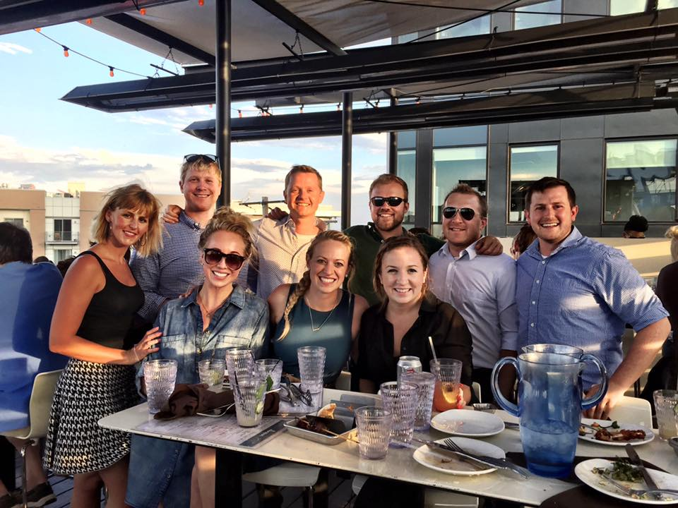Some of our Denver team, and our cheery CEO, Peter (back row, standing directly in sun's rays)