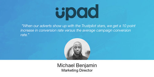 How Upad Uses Reviews to Drive Investment, Brand Reputation, and Referrals