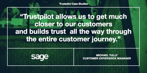How Sage uses Trustpilot to put customers first