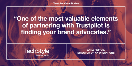 How TechStyle uses reviews to boost their brand