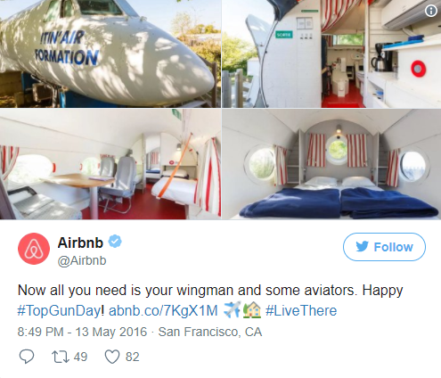 Airbnb Twitter post