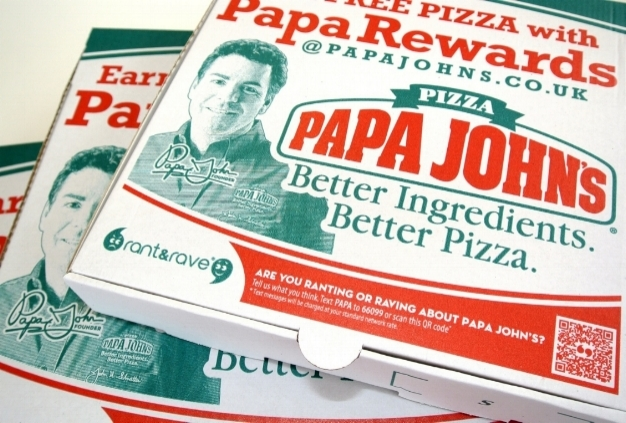 Papa John's offers a QR code or text option for sending feedback