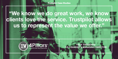 How 4 Pillars earns their customers' trust with reviews