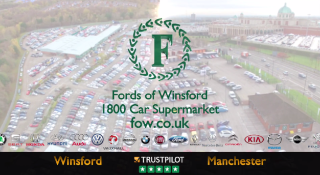 Fords of Winsford's TV ad featuring Trustpilot